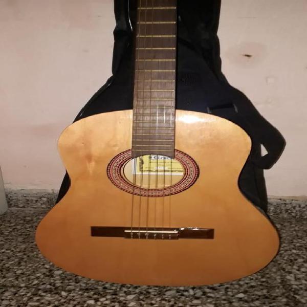 Guitarra criolla gracia, clasica de estudio funda