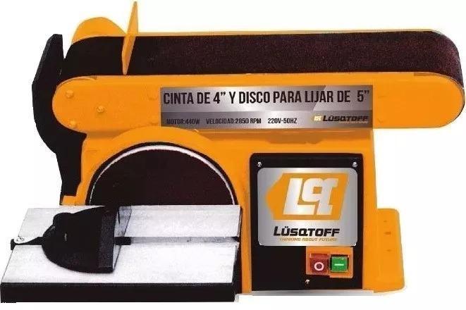 Lijadora de banco banda y disco multiple 440w lusqtoff