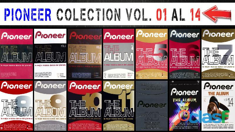 Pioneer the album coleccion vol: 01 al 14 en mp3 envio gratis