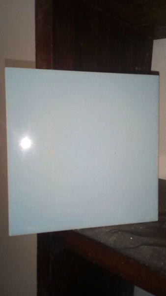 Azulejos celeste para reposición 15 x 15 lisos y con dibujo