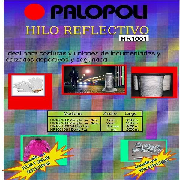 Hilo reflectivo 2mm simple faz rollo 1500 m/l palopoli