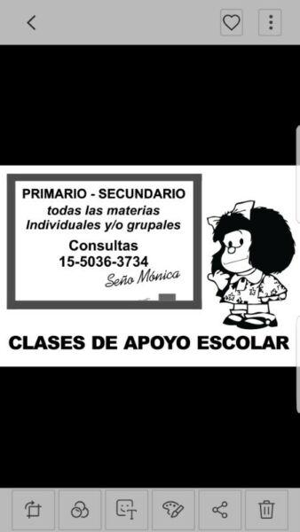 Maestra particular, primarios y secundarios.
