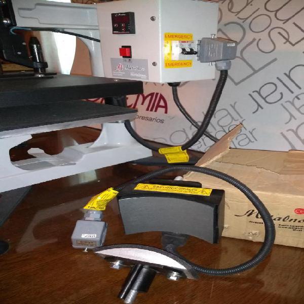 Prensa térmica metalnox para sublimar prendas plato