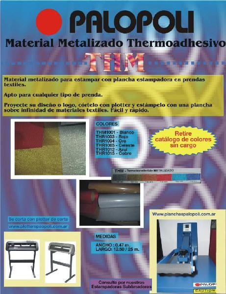 Termotransferible vinilo metalizado thm 6 colores palopoli