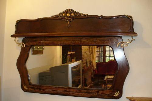 Espejo antiguo espejo frances impecable amplio luis xv hay