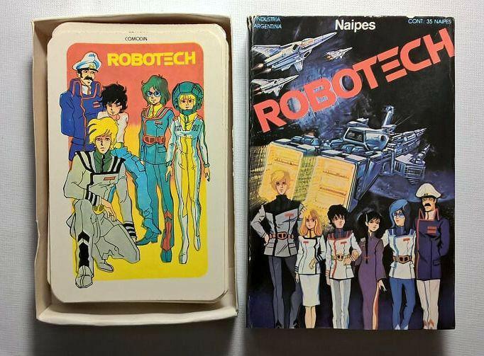 Cartas naipes de robotech marca cromy. año 1986.