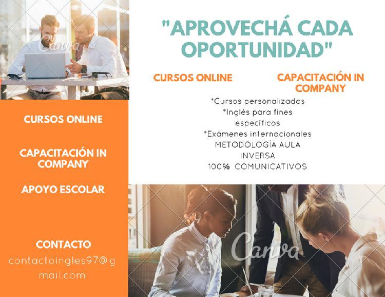 Clases particulares de inglés. cursos personalizados.
