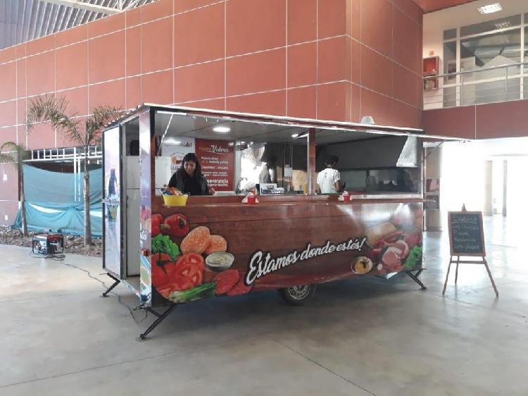 Food truck tráiler gastronómico íntegro acero inoxidable