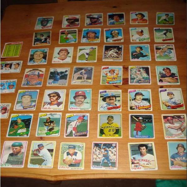 Lote 48 cartas tarjetas baseball 1968/1986