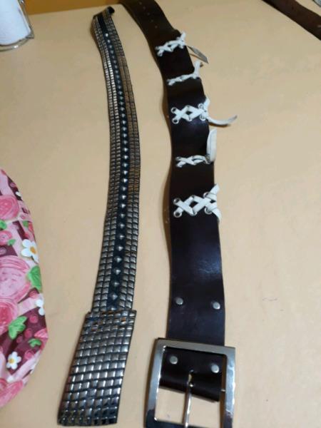 Cinturones de cuero legitimo