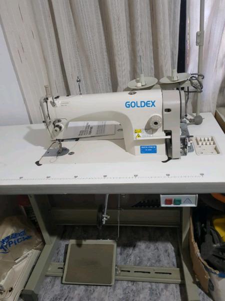 Maquina industrial de coser recta goldex poco uso igual que
