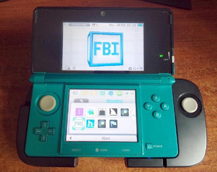 Nintendo 3ds juegos digitales circlepad pro 16gb