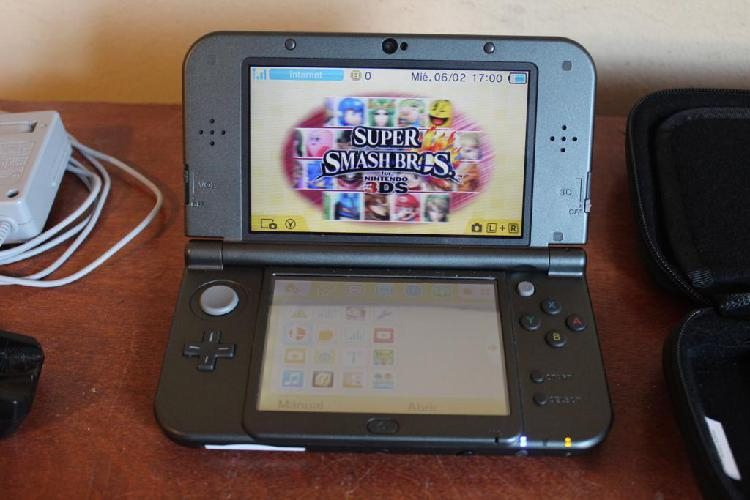Nintendo 3ds xl con 5 juegos, cargador, transformador y