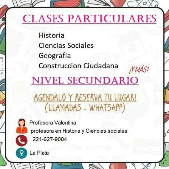 Clases particulares de historia, ciencias sociales y mucho