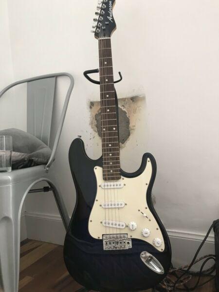 Guitarra eléctrica amplificador cable
