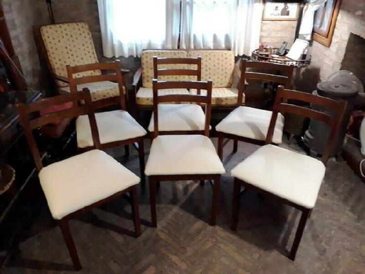 Juego de 6 sillas de comedor tipo bar