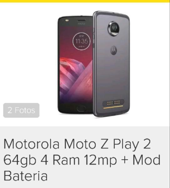 Motorola Moto Z2 Play 64gb 4 ram Moto Mods super.Batería