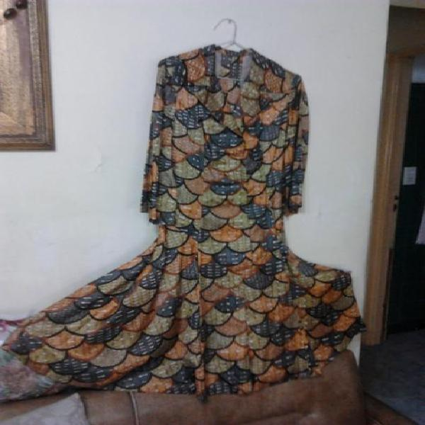 Vestido Vintage 1977 Diseño Exclusivo Modelista