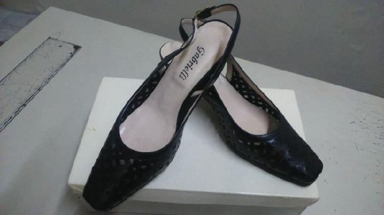 Zapatos de vestir cuero negro de señora - n 38