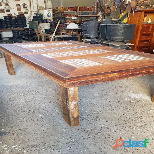 Mesa maderas recicladas 120 x 220 ideal quincho