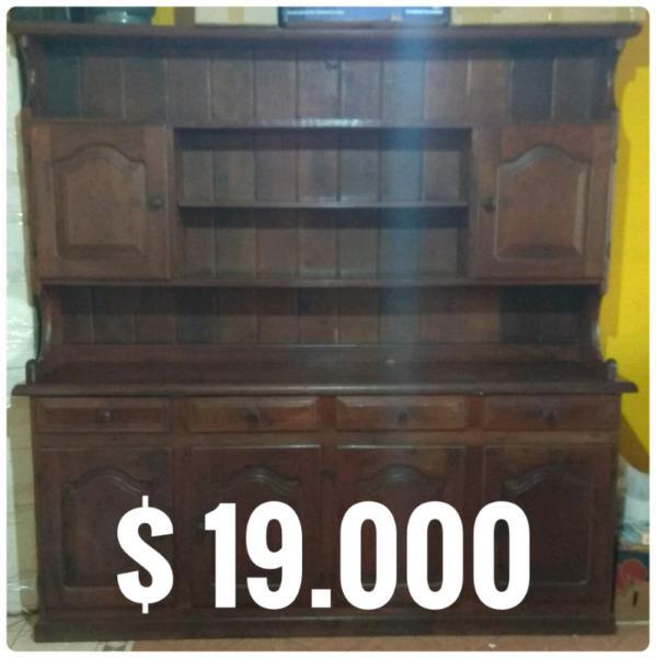 Vendo modular, mesa de tv, bar en algarrobo y muebles de