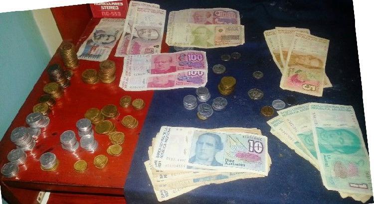 Liquido colección lote australes 33 billetes y 291 monedas