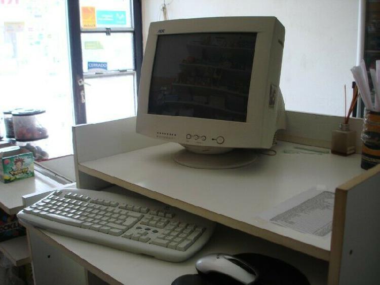 Mueble de computadora, para negocio. con cajón para