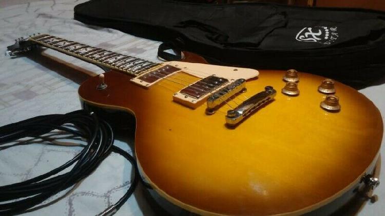 Guitarra electrica sx les paul std encolada poco tiempo de