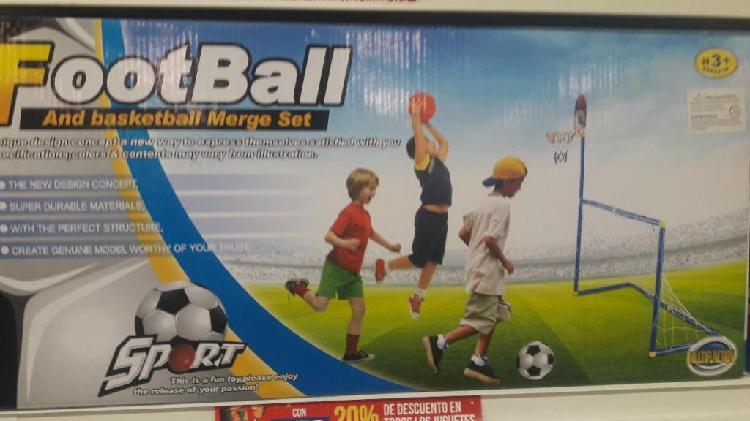 Arco Futbol Infantil Pelota Inflador Red Aro Basquet Dardos