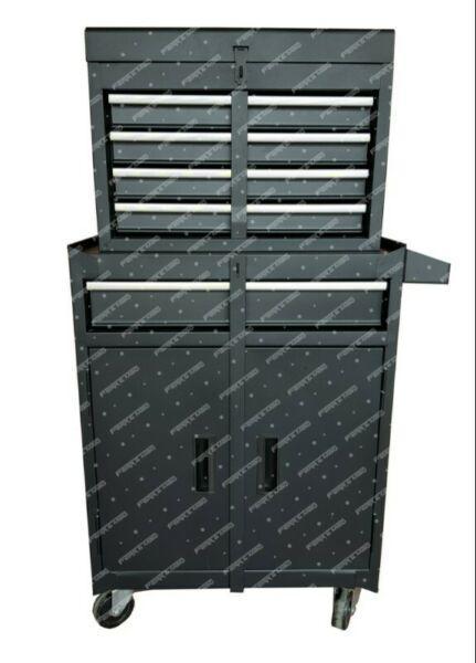 Carro metalico para taller con caja de herramientas kld