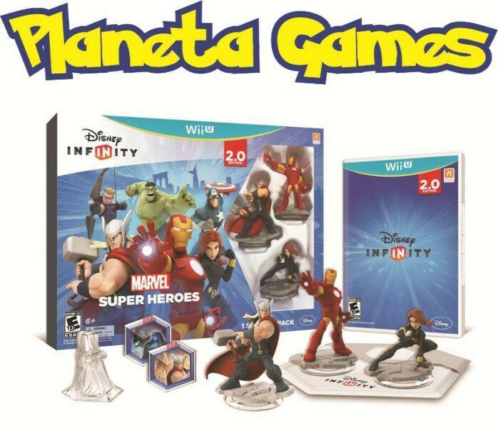 Disney infinity 2.0 marvel nintendo wii u nuevos caja