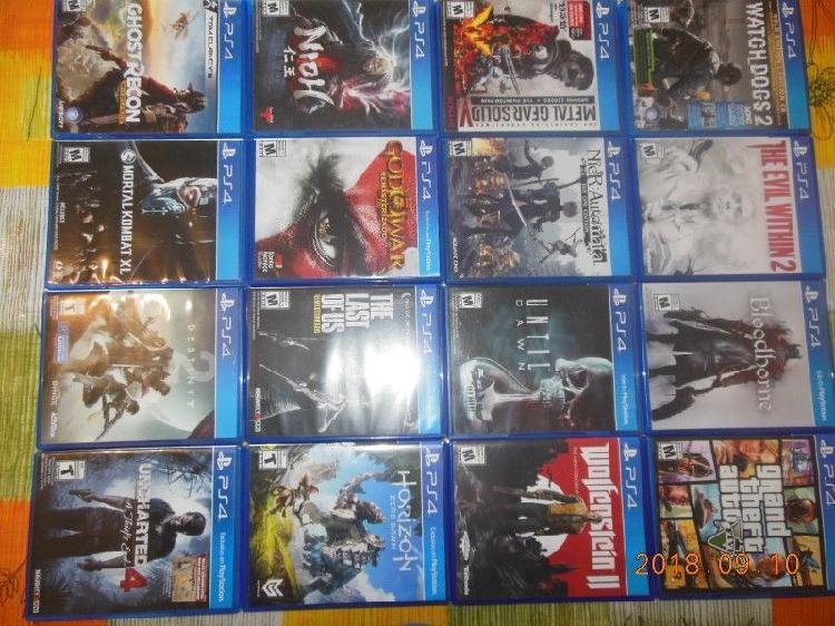 Vendo coleccion de juegos ps4