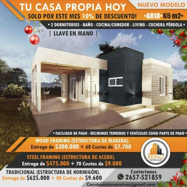 Casas prefabricadas y de metodo tradicional