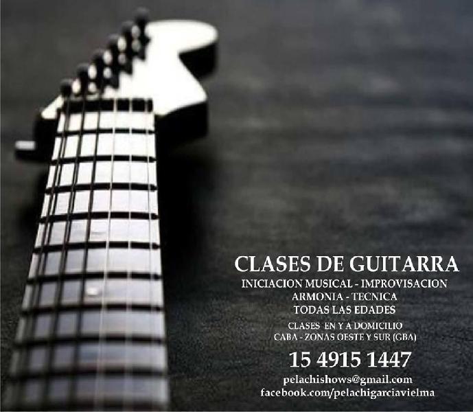 Clases de guitarra en caba zonas oeste y sur
