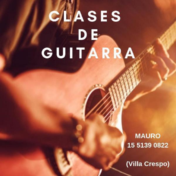 Clases de guitarra villa crespo