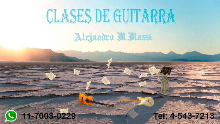 Clases de guitarra electrica y/o española