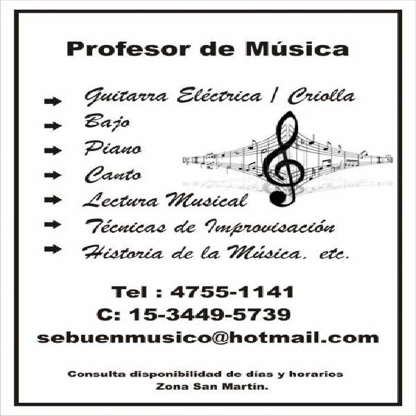 Clases de guitarra / piano y canto