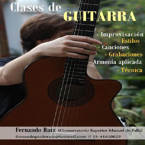 Clases de guitarra criolla, electrica, acustica y armonia en