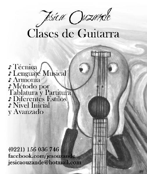Clases de guitarra, también en verano!