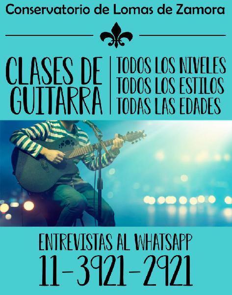 Guitarra zona sur lomas de zamora criolla electrica