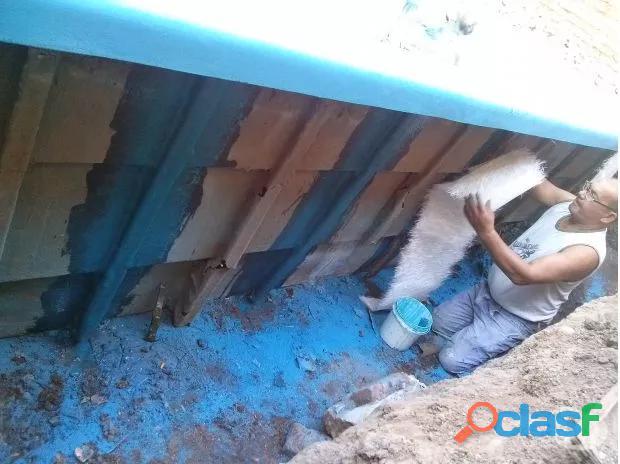 Reparación y pintura de piletas de fibra