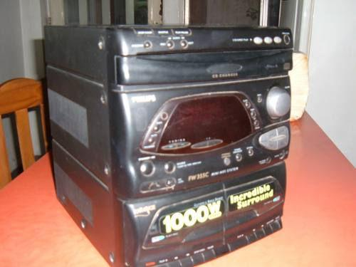 Centro musical philips 1000 watt no prende
