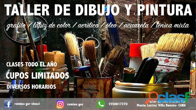 Clases de dibujo y pintura  taller de artes plásticas romina ger