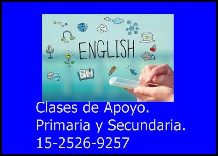 Clases de apoyo de inglés. nivel primario y secundario