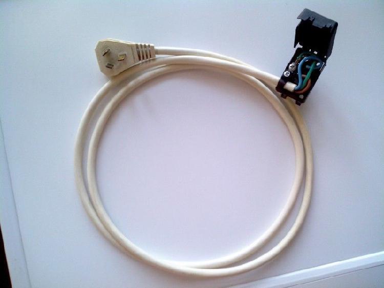 Cable alimentación 220 v heladera lavarropas con caja