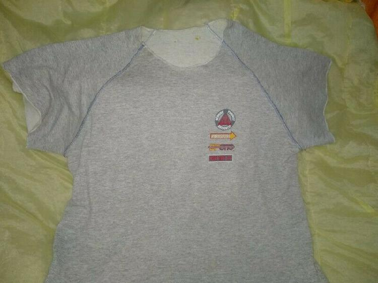 Remera gris 100% algodon talle grande contorno 120cm