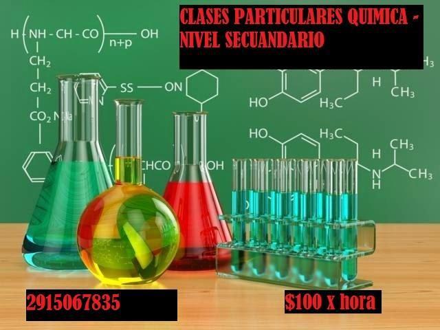 Clases de quimica. nivel secundario.