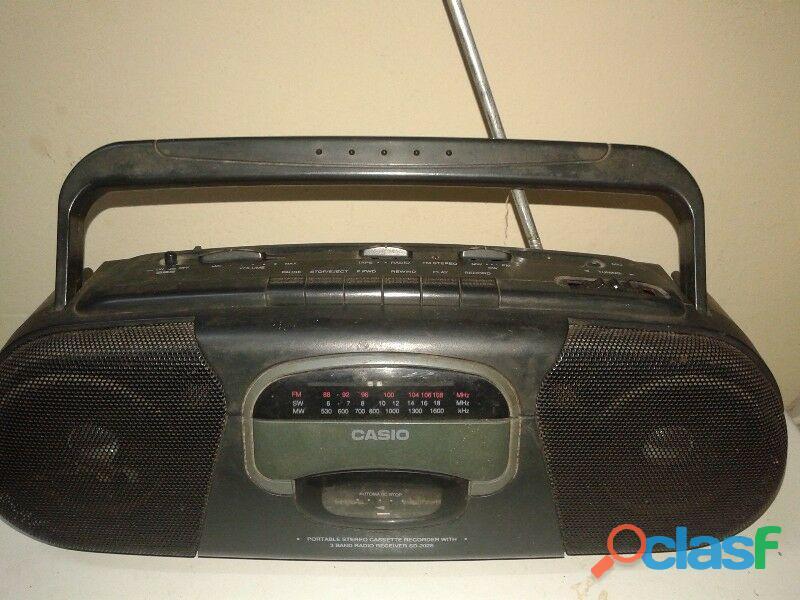 Radio grabador cassete casio sd 202s 3 ban pila electri perfecta