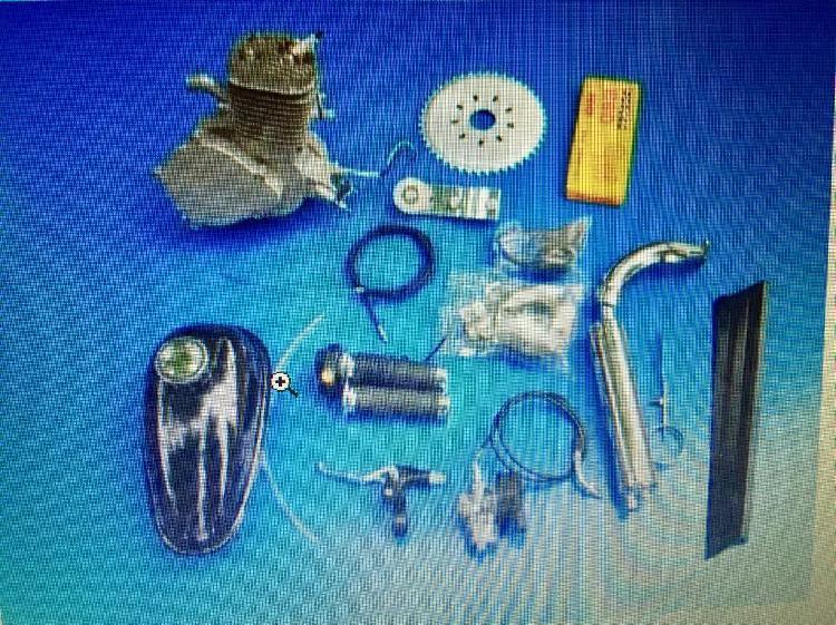 Kit de motor 48 cc completo p/bicicleta