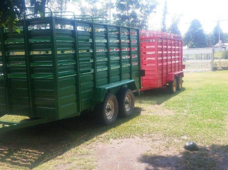 Trailer oferta 1 eje 2 ejes y dual para animales y cargas
